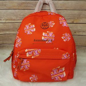 Tory Burch Ella Nylon Backpack Crazy Printed Logo